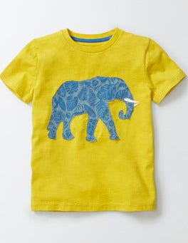 Yellow Patchwork Animal T-shirt