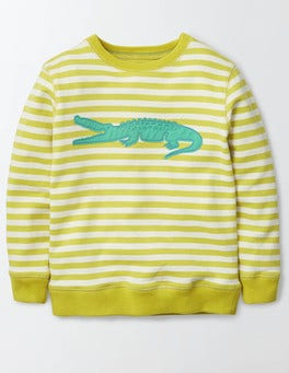 Mimosa and Ivory Stripe Summer Logo Sweatshirt