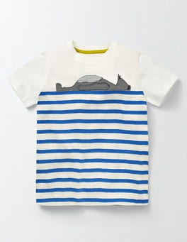 Ivory and Skipper Stripe Animal Stripe T-shirt