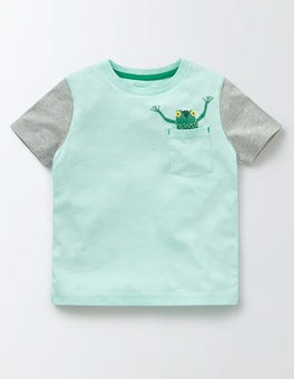 Light Surf Blue Pocket Friends T-shirt
