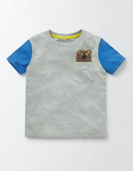 Grey Marl Pocket Friends T-shirt