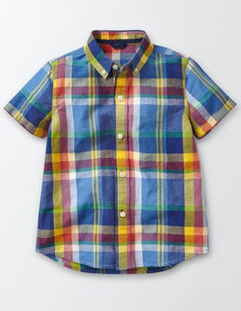 Starboard/Cornish Blue Check Fun Madras Shirt
