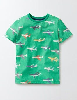 Bright Green Planes Travel T-Shirt