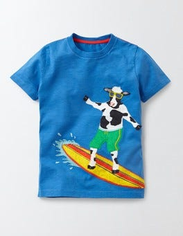 Blue Beach Animals T-shirt