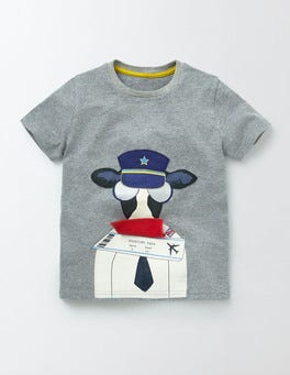 Light Grey Novelty Animal T-Shirt