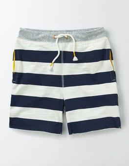 Navy/Ivory Stripe Slub Sweatshorts