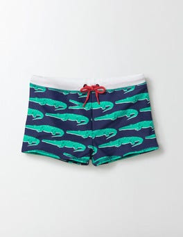 Navy Crocs Swim Trunks