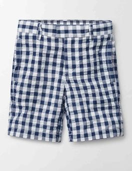 Navy Gingham Smart Shorts