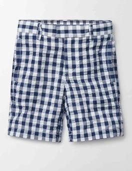 Navy Gingham Smart Shorts