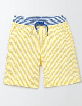 Cantaloupe Stripe Swim Shorts