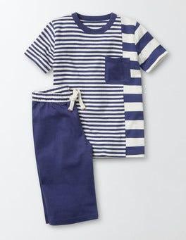 Starboard and Ecru Stripe Hotchpotch Pyjamas