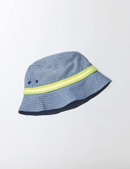 Navy Ticking Stripe Fisherman's Hat