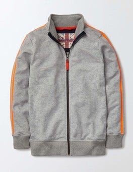 Grey Marl Track Top