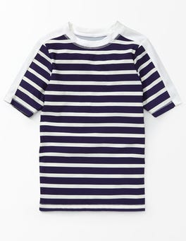 Beacon and Ivory Stripe Short Sleeve Rash Vest