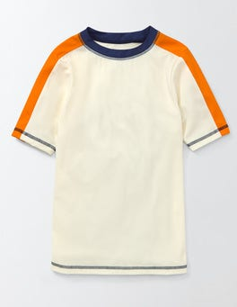 Ecru Short Sleeve Rash Vest