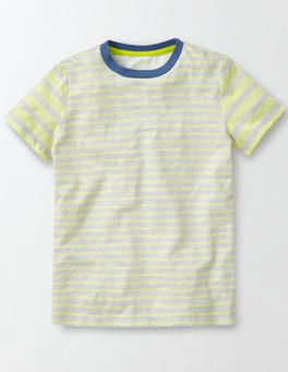Grey and Yellow Stripe Hotchpotch Stripe T-shirt