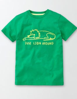 Astro Green Animal Hangout T-shirt