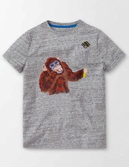 Grey Marl Jaspé Animal Hangout T-shirt