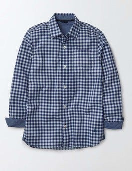 Overdyed Blue Gingham Overdyed Shirt