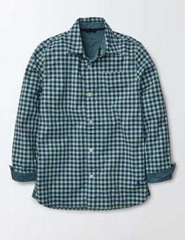 Overdyed Green Gingham Overdyed Shirt