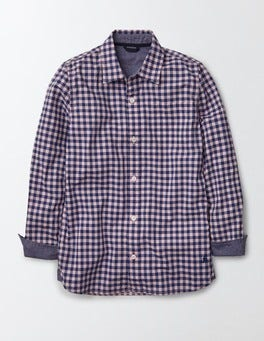Overdyed Pink Gingham Overdyed Shirt