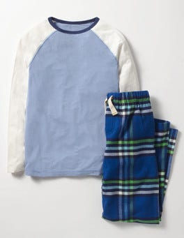 Klein Blue Rainbow Check Pyjama Set