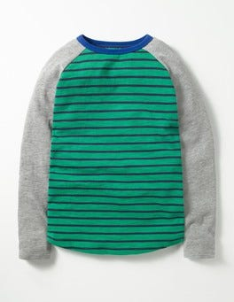Crocodile Green/Mini Navy Raglan T-shirt