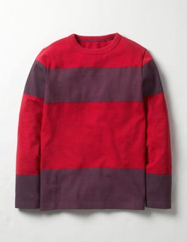Engine Red/Purple Dusk Slub Stripe T-shirt