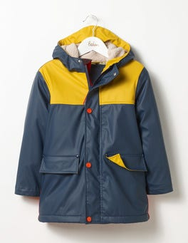 Navy/Sunny Yellow Borg-lined Fisherman's Jacket