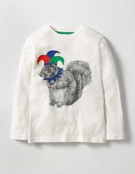 Ecru Squirrel Jester Animals Rule T-shirt