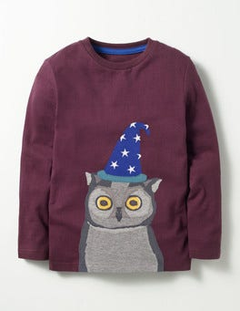 Roman Purple Wizard Owl Animal Kingdom T-shirt