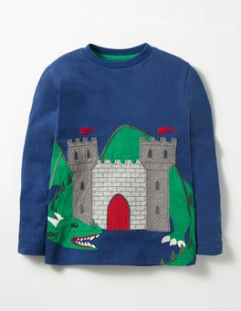 Beacon Blue Castle Novelty Fantasy T-shirt