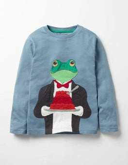 Horizon Blue Butler Frog Splendid Animals T-shirt