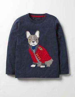 Navy Mr Bulldog Splendid Animals T-shirt