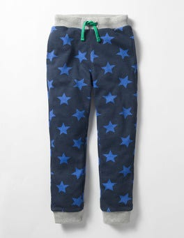 Navy/Gymnasium Star Cosy Lined Joggers
