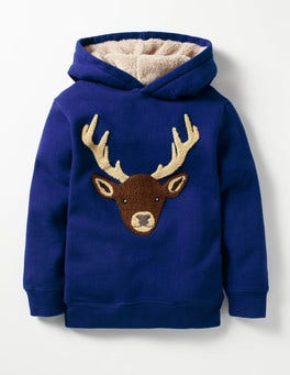 Howlin Blue Stag Bouclé Hoodie