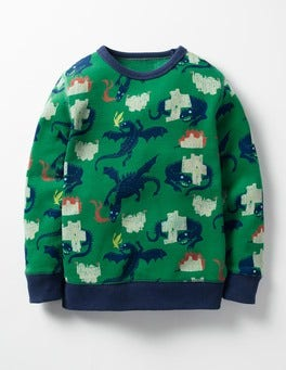 Crocodile Green Dragons Hero's Tale Sweatshirt