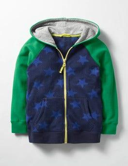 Navy/Gymnasium Blue Star Fleece Zip-up Hoodie