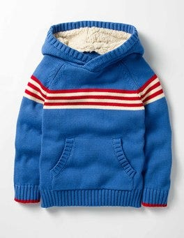 Swedish Blue Knitted Hoodie