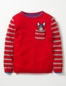 Engine Red Dog Pocket Crew Jumper