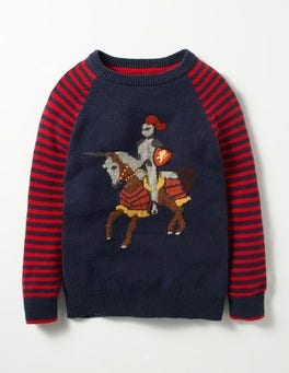 Navy/Beatnik Red Knight Medieval Adventures Jumper