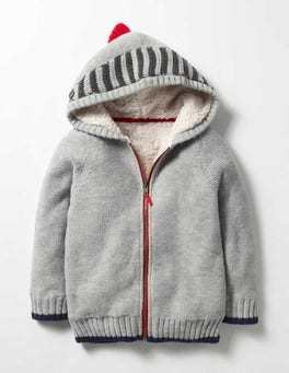 Grey Marl Knight Shaggy-lined Hoodie