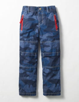 Navy Camo Lined Skate Trousers