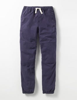 Navy Fleece-lined Techno Pants