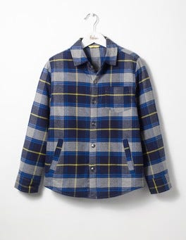 Grey Marl/Zissou Yellow Check Borg-lined Shacket