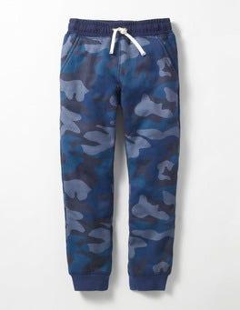 Navy Camo Shaggy-lined Joggers