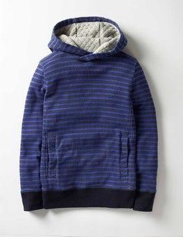 Navy/Gymnasium Blue Stripy Hoodie