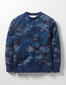 Navy Camo Shaggy-lined Sweatshirt