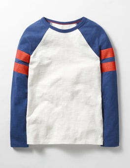 Beacon Blue Retro Sports Stripe T-shirt