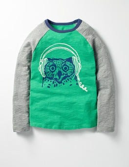 Astro Green Owl A Real Hoot T-shirt